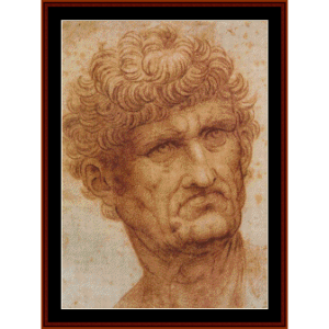 Male Head - DaVinci cross stitch pattern by Cross Stitch Collectibles | Crafting | Cross-Stitch | Wall Hangings