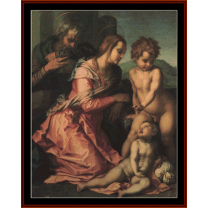 The Holy Family - Del Sarto cross stitch pattern by Cross Stitch Collectibles | Crafting | Cross-Stitch | Other