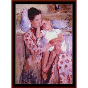 emmie and her child - cassatt cross stitch pattern by cross stitch collectibles