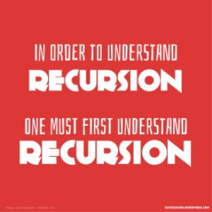 typography poster - recursion
