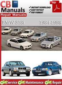 bmw 318i 1984-1998 service repair manual