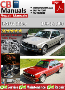 BMW 325e 1984-1990 Service Repair Manual | eBooks | Automotive
