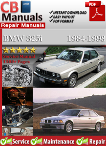 BMW 325i 1984-1998 Service Repair Manual | eBooks | Automotive
