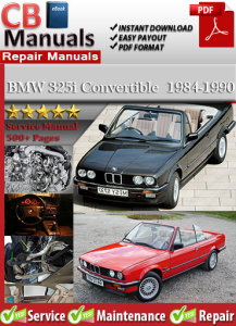 BMW 325i Convertible 1984-1990 Service Repair Manual | eBooks | Automotive
