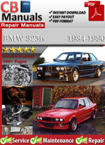 BMW 325is 1984-1990 Service Repair Manual | eBooks | Automotive