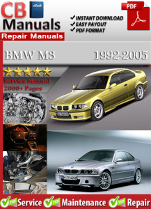 BMW M3 1992-2005 Service Repair Manual | eBooks | Automotive