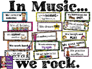 music class rules: in music we… bulletin board