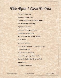 this rose i give to you