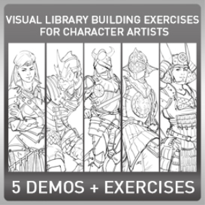 visual library building exercises for character artists