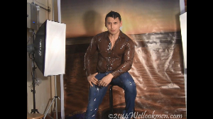 david shiny shirt photoshoot