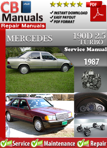 Mercedes 190 D Turbo 2.5 1987 Service Repair Manual | eBooks | Automotive