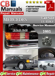Mercedes 350SD Turbo 1991 Service Repair Manual | eBooks | Automotive