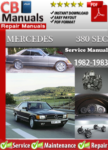 mercedes 380sec 1982-1983 service repair manual