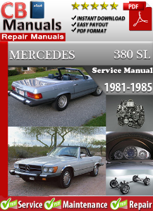 mercedes 380sl 1981-1985 service repair manual