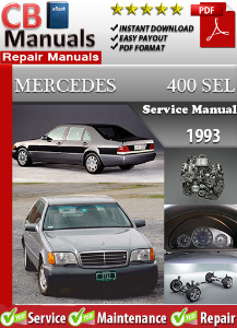 mercedes 400sel 1993 service repair manual