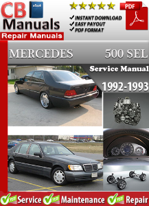 mercedes 500sel 1992-1993 service repair manual