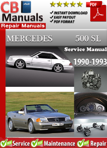mercedes 500sl 1990-1993 service repair manual