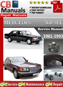 mercedes 560sel 1985-1991 service repair manual