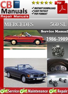 mercedes 560sl 1986-1989 service repair manual