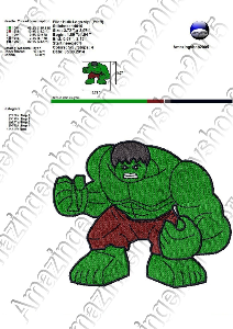 Hulk Lego - Embroidery Design | Crafting | Sewing | Other
