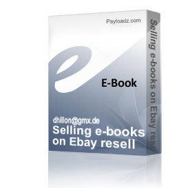 selling e-books on ebay resell rights make money