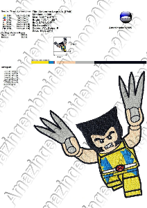 Wolverine Lego  - Embroidery Design | Crafting | Sewing | Other