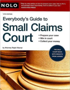 everybody's guide to small claims court (nolo)