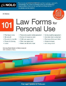 101 law forms for personal use 8th edition