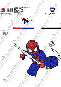 Spiderman Lego - Embroidery Design | Crafting | Sewing | Other