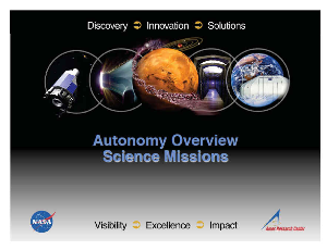 autonomy overview, science missions