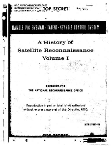 history of satelite reconnaissance volume1