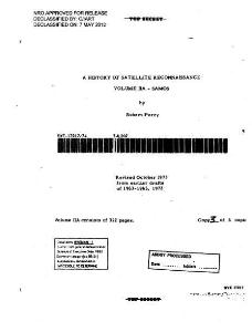 a history of satallite reconnaissance volume2a- samos