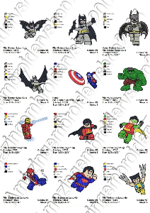 Super Heroes Lego - 12 Embroidery Designs | Crafting | Sewing | Other