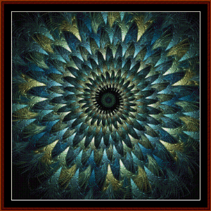 Fractal 453 cross stitch pattern by Cross Stitch Collectibles | Crafting | Cross-Stitch | Wall Hangings