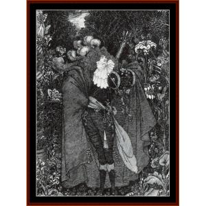 A Nightpiece, 1894 - Beardsley cross stitch pattern by Cross Stitch Collectibles | Crafting | Cross-Stitch | Wall Hangings