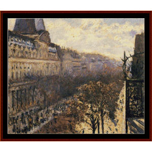 Boulevard des Italiens - Caillebotte cross stitch pattern by Cross Stitch Collectibles | Crafting | Cross-Stitch | Wall Hangings