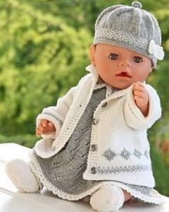 dollknittingpatterns - 0076d katja - jurkje, broekje, jasje voor buiten, sokjes en muts (nederlands)