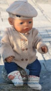 DollKnittingPatterns-0115D ELIDA -Jacke, Pulli, Hose, Mütze, Schal und Schuhe (Deutsch) | Crafting | Knitting | Baby and Child