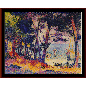 A Pine Wood in Provence - H.E. Cross cross stitch pattern by Cross Stitch Collectibles | Crafting | Cross-Stitch | Wall Hangings