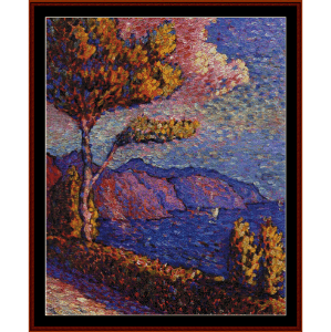 Canal Near St. Tropez - H.E. Cross cross stitch pattern by Cross Stitch Collectibles | Crafting | Cross-Stitch | Wall Hangings