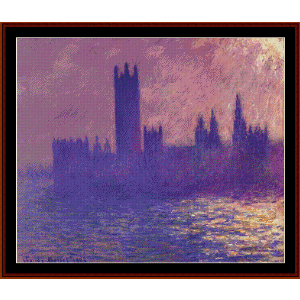Houses of Parliament, Sunlight Effect - Monet cross stitch pattern by Cross Stitch Collectibles | Crafting | Cross-Stitch | Wall Hangings