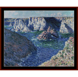 Rocks at Belle Ile - Monet cross stitch pattern by Cross Stitch Collectibles | Crafting | Cross-Stitch | Other