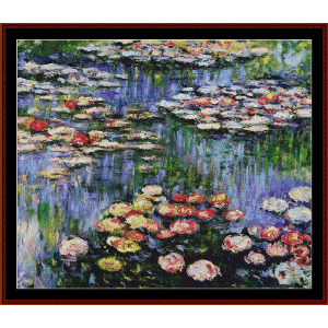 Waterlilies IV - Monet cross stitch pattern by Cross Stitch Collectibles | Crafting | Cross-Stitch | Other