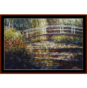 A Waterlily Pond - Monet cross stitch pattern by Cross Stitch Collectibles | Crafting | Cross-Stitch | Wall Hangings