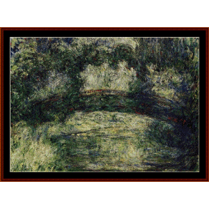 The Japanese Bridge, 1918 - Monet cross stitch pattern by Cross Stitch Collectibles | Crafting | Cross-Stitch | Wall Hangings