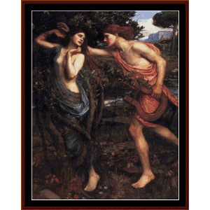 Apollo and Daphne - Waterhouse cross stitch pattern by Cross Stitch Collectibles | Crafting | Cross-Stitch | Wall Hangings