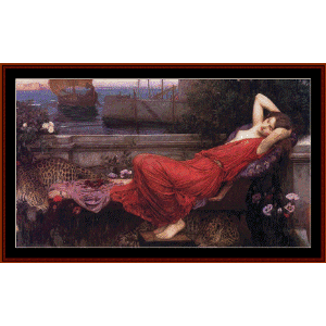 Ariadne, 1898 - Waterhouse cross stitch pattern by Cross Stitch Collectibles | Crafting | Cross-Stitch | Wall Hangings