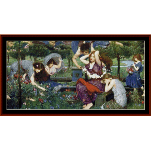 Flora and the Zephyrs - Waterhouse cross stitch pattern by Cross Stitch Collectibles | Crafting | Cross-Stitch | Other
