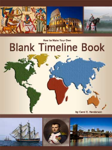 how to make your own blank timeline book