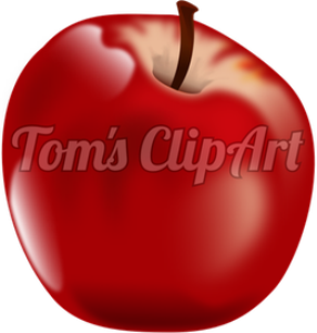 toms clipart - apple red
